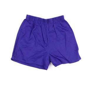 NOS 70s Sanforized CottonShorts Purple Adult Small